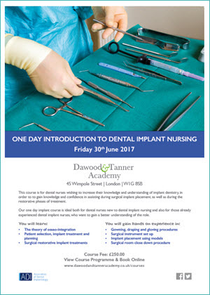 One Day Introduction To Dental Implant Nursing