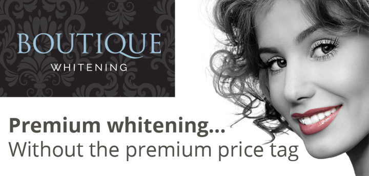 Boutique teeth whitening product