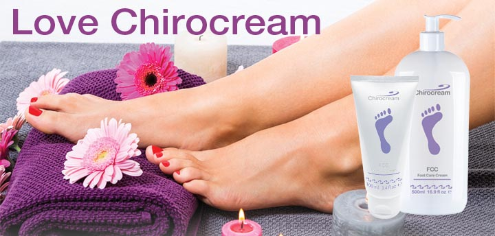 Love Chirocream footcare cream for chiropodists & podatrists