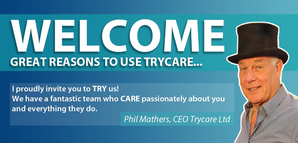 Trycare Welcome Banner
