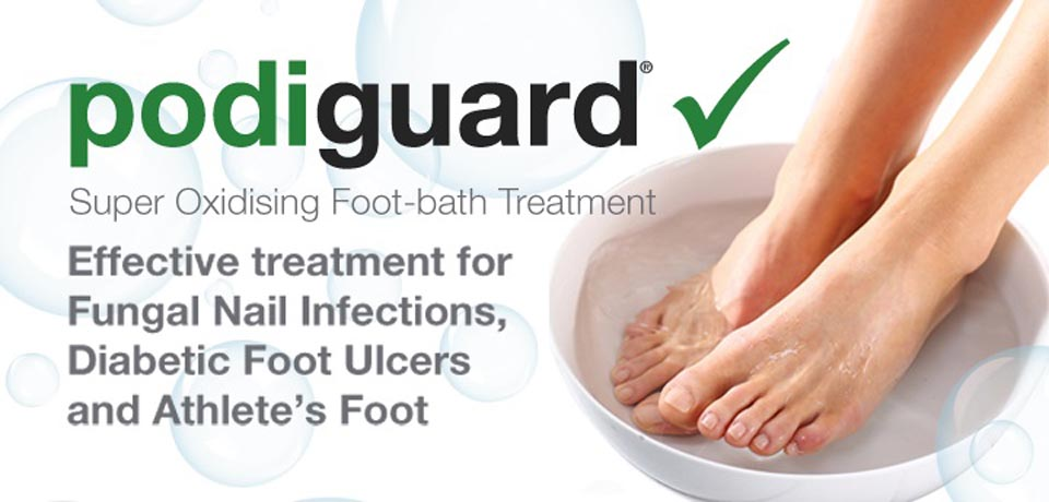 Podiguard disinfectant for footcare treatment